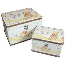 2er Set Baby Aufbewahrungsboxen – Unisex Teddybär Design