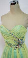 NWT ROBERTA $147 Yellow / Seafoam Prom Formal Gown 5