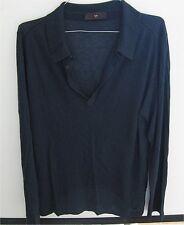 Z Zegna Navy Blue Long Angle Sleeve Polo Shirt - Brand New