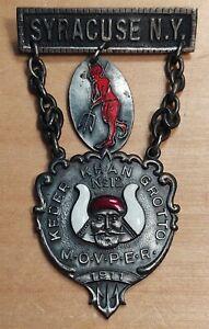 Masonic M.O.V.P.E.R. Supreme Movper Keder Khan Grotto Medal 1911 Syracuse NY