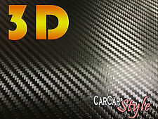 3d Aire Negro Libre De Fibra De Carbono Vinilo 1.52 m (59,8 En) X 0,4 M (15,7 En) Abrigo coche decal
