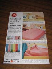 1954 Print Ad GE Blanket General Electric Bridgeport,CT