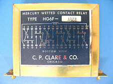 **Lot of 2** NEW  C.P. CLARE HG6F-1022 Mercury Wetted Contact Relays,