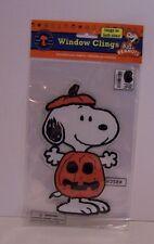 Snoopy Pumpkin Halloween Window Cling Peanuts