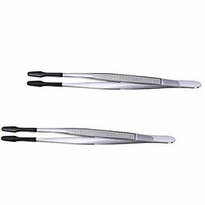 Contact Tools Rubber Tipped Tweezers Tweezers Precision Flat Tip Forceps