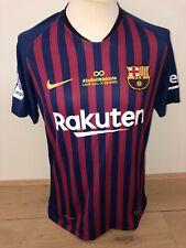 Iniesta FC Barcelona Match Worn Issued player shirt 17/18 Infinit8 Spain jersey