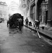 PARIS c. 1948 - Travaux de Voirie  Goudronnage - Négatif 6 x 6 - N6 P147