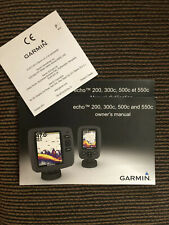 Garmin Echo 200,300,500c Fish Finder Owners Manual Only -