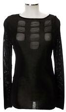 Apriori Shirt 38 schwarz Viskose in Strick langarm Top, Pullover neu mit Etikett