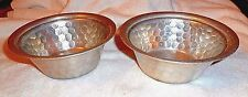 2 Everlast Serving Bowls Hammered Aluminum Hand Forged #1038 Vintage 6 3/4""
