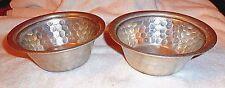 """2 Everlast Serving Bowls Hammered Aluminum Hand Forged #1038 Vintage 6 3/4"""" #21"""