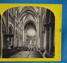 1860s Suisse Stereoview 21 Lausanne Interieur Cathedrale Alpine Club W England