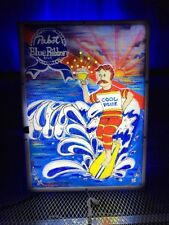 PABST BLUE RIBBON PBR ART ~ 2012 COOL BLUE SURF DUDE ~ ANIMATED LED Beer Sign