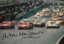 Arturo Merzario Firmato a Mano 12x8 FOTO FERRARI LE MANS 1.