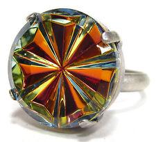Versilberte runde Modeschmuck-Ringe für Damen
