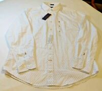 Tommy Hilfiger Long Sleeve Button Up Shirt 80's 2 Ply Classic Fit M 78C8806 112