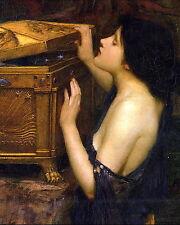 8x10 Waterhouse Pre-Raphaelite Arts & Crafts Print Greek Myth Maiden PANDORA BOX