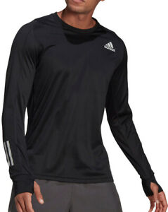 adidas Own The Run Long Sleeve Mens Running Top - Black