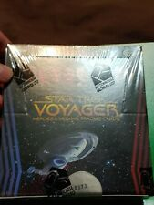 Star Trek Voyager Heroes & Villains Factory sealed trading card box 3 autographs