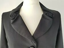 MOSCHINO Cheap and Chic Black Swirl Collar Cotton Blazer Jacket Size 8