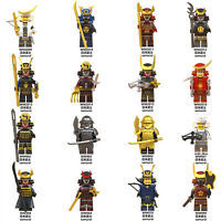 16 set Samurai Minifigures Building toys Bricks Fit Lego Kids Gift