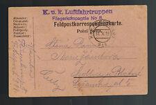 1915 Austria Feldpost KuK Postcard Cover Luftahrtruppen Air Force Luftwaffe