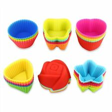 Silicone Muffin Cups 36 Pcs Reusable,Non-Stick, Heat Resistan Mini Baking Molds
