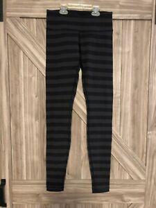 NWOT  WOMENS LULULEMON FULL LENGTH  LEGGINGS YOGA PANTS WUNDER UNDER 6  STRIPPED