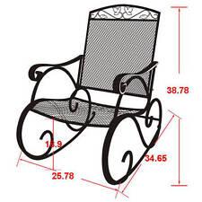 Mainstays Wrought Iron Patio Rocking Chairs Ebay
