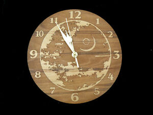 star wars death star  engraved wall clock great gift