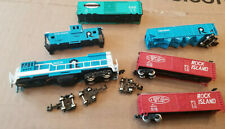 N Scale 6 Pieces Rolling Stock Freight Box Cars ALL ARE MISSING PARTS!!