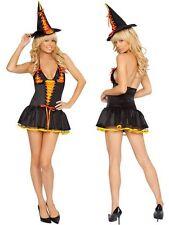 SEXY Tenue Costume Déguisement HALLOWEEN sorciere fée citrouille femme orange
