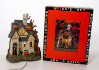 Prettique Designs Witch's hut Lighted Halloween Figurine Ghost Trick Or Treat