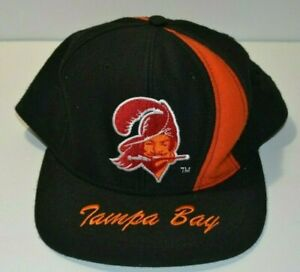 Vintage TAMPA BAY BUCCANEERS Snapback Bucs Bucco Bruce Hat 90s Orange Nutmeg