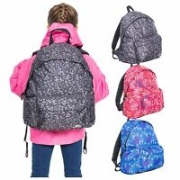Trespass Britt Boys Girls Backpack Rucksack with Padded Shoulder Straps