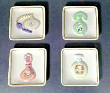 MWW Market Jardin De Fleur (Flower Garden) Mini Plates 3D Perfume Bottles EUC