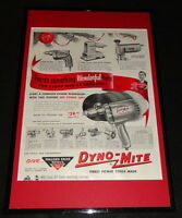 1955 Miller Falls Tools Framed 11x17 ORIGINAL Advertising Display B