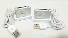 Apple iPod Shuffle Silver 2nd Gen A1204 1Gb Mp3 Players Lot of 2 Working Vgc