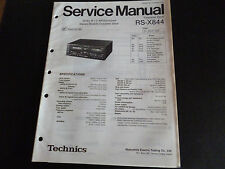 ORIGINALI service manual TECHNICS Cassette Deck rs-x844