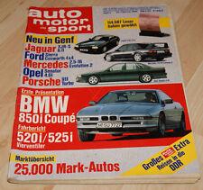 AMS 5/90 Porsche 911 turbo, BMW 850i, 520i, 525i, AMG, Hagman Mercedes 190 W 201
