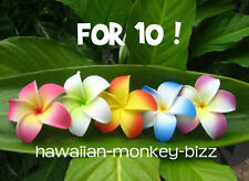 "NEW! ~ ""CURLED-IN PLUMERIA"" FOAM HAIR PICKS or CLIPS ~ FOR 10!"