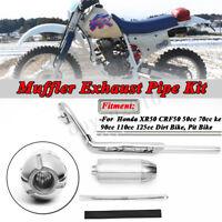 Exhaust Pipe Muffler For HONDA XR50R CRF50F 50cc 70cc 90cc 110cc 125cc Dirt
