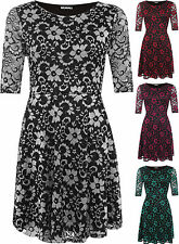 Nylon Short Sleeve Casual Floral Dresses for Women