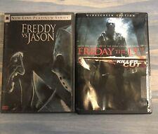 Freddy Vs Jason And Friday The 13th Killer Cut Dvd Lot
