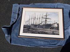 Reginald Marsh, Schooners,Maine Interest,Marine Watercolor,Large Boats,Transport