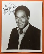 VINTAGE ORIGINAL EARLY PHOTO SIGNED O.J. SIMPSON PHOTOGRAPH AUTOGRAPH