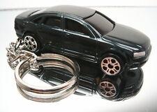 Audi A8  Key Chain Ring Dark Green Sedan Diecast 3D Fob