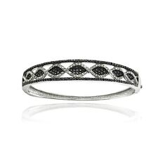 1 CT Black & White Diamond Bangle Bracelet