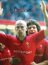 Gareth Thomas - Welsh Rugby Legend - Brilliant Signed Colour Photograph