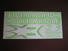 Cannondale Stickers  Set  White, Green & Silver.